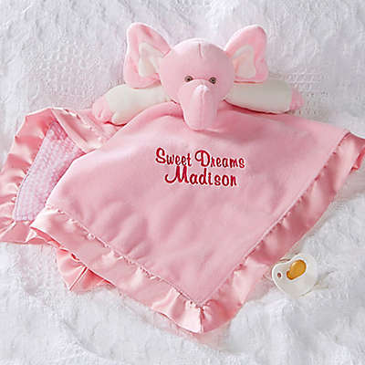 Elephant Baby Blankie in Pink
