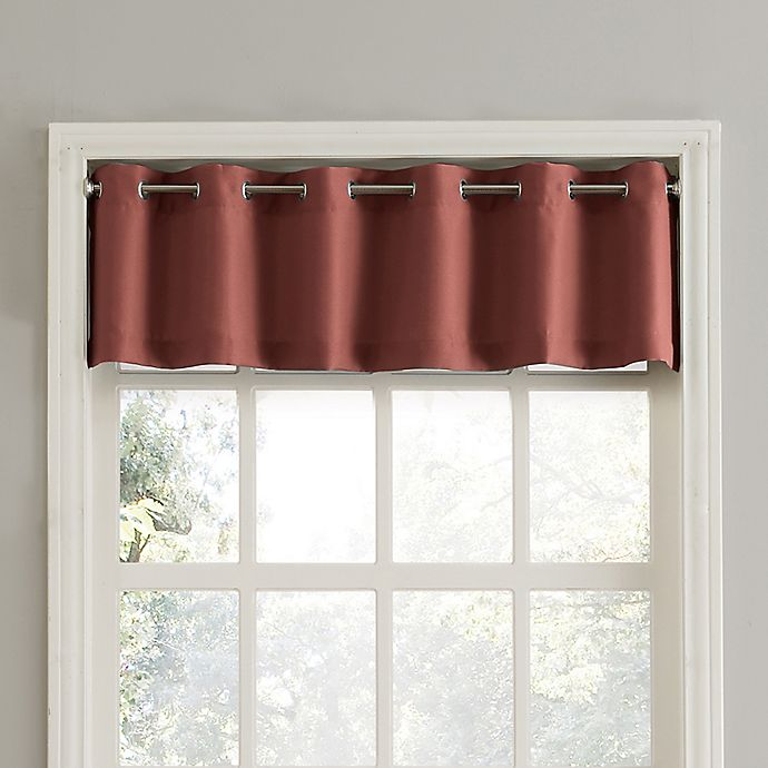 Alternate image 1 for No.918® Montego Casual Textured Grommet Kitchen Window Curtain Valance