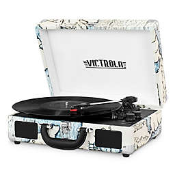 Victrola™ 3-Speed Bluetooth® Portable Suitcase Record Player in Beige