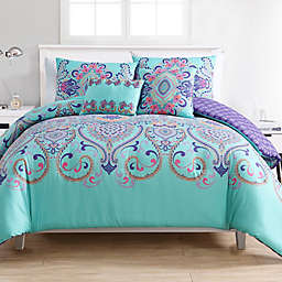 VCNY Home Amherst 5-Piece Reversible Full/Queen Comforter Set in Aqua