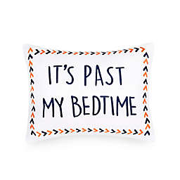 "Casa & Co. ""It's Past My Bedtime"" Oblong Throw Pillow in White"