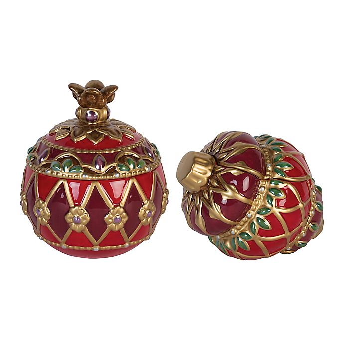 Alternate image 1 for Fitz and Floyd® Renaissance Holiday Lidded Boxes (Set of 2)