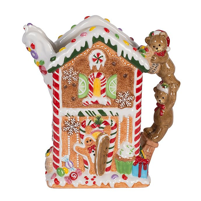 Alternate image 1 for Fitz and Floyd® Reagan White House Christmas Gingerbread Pitcher
