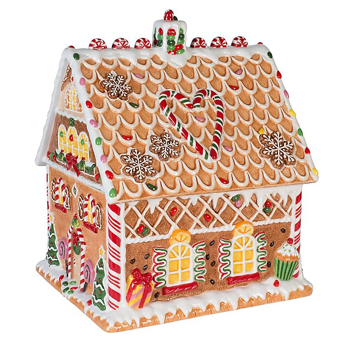 Alternate image 1 for Fitz and Floyd® Reagan White House Christmas Gingerbread Cookie Jar