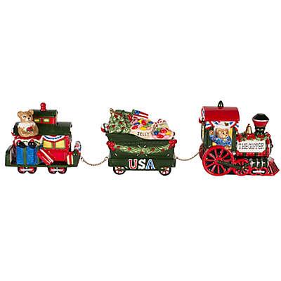 Fitz and Floyd® Reagan White House Christmas Teddy Bear Train 3-Piece Condiment Set
