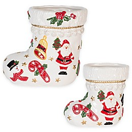 Fitz and Floyd® Kennedy White House Christmas Stocking Vase