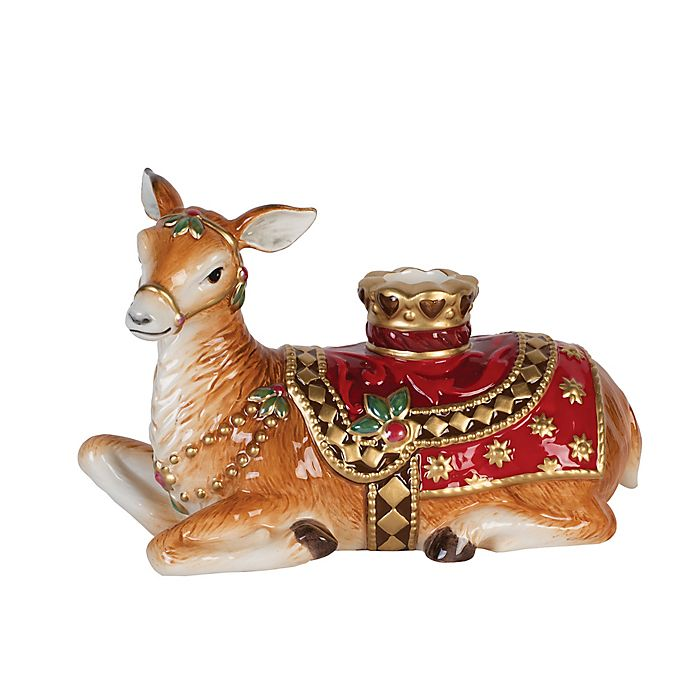 Alternate image 1 for Fitz and Floyd® Renaissance Holiday Resting Deer Candle Holder