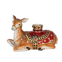 Fitz and Floyd® Renaissance Holiday Resting Deer Candle Holder