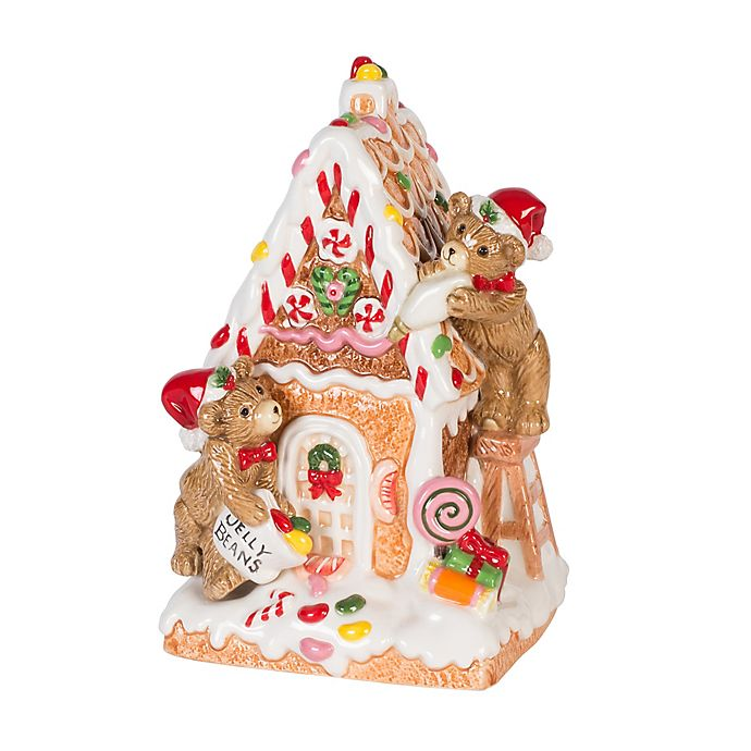 Alternate image 1 for Fitz and Floyd® Reagan White House Gingerbread House Musical Figurine