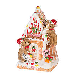 Fitz and Floyd® Reagan White House Gingerbread House Musical Figurine