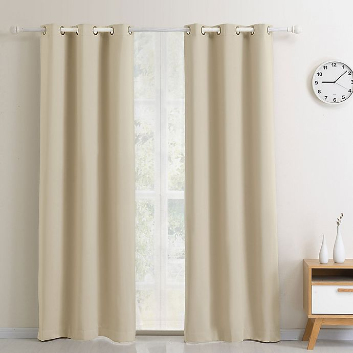 Alternate image 1 for Dusk to Dawn Blackout Grommet Window Curtain Panel
