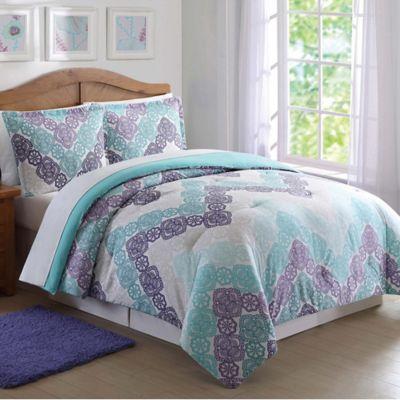 Laura Hart Kids Antique Lace Chevron Comforter Set Bed Bath Amp Beyond