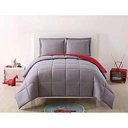 My World Solid Reversible Comforter Set