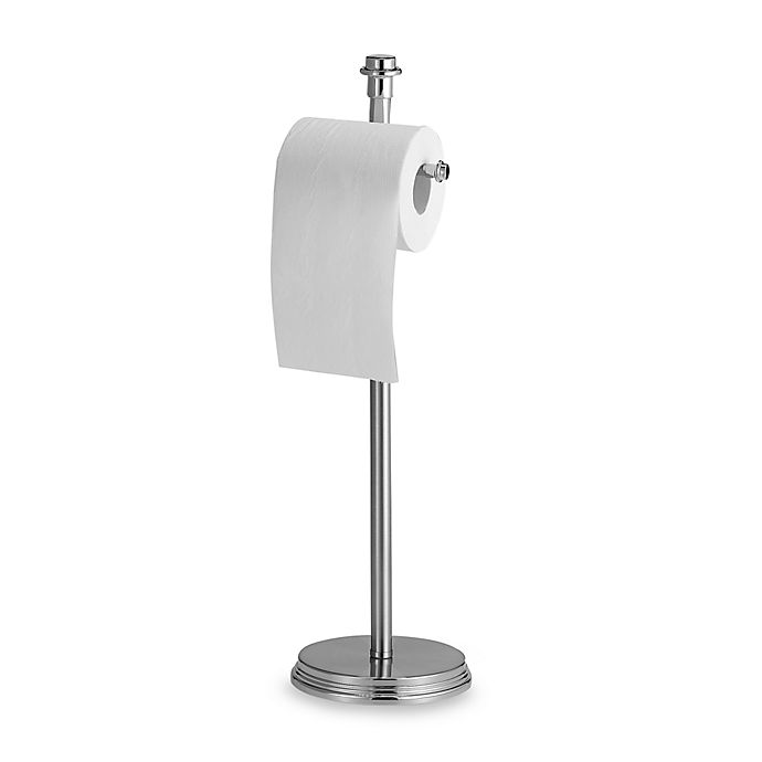 Winthrop Brushed Nickel Toilet Paper Stand