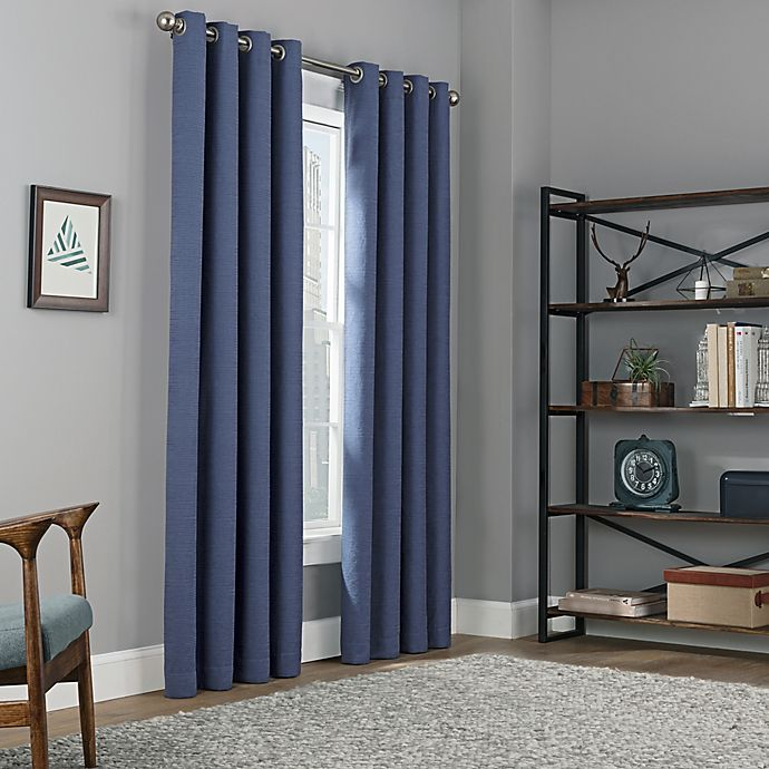 Alternate image 1 for Copley Square Grommet Top 100% Blackout Window Curtain Panel