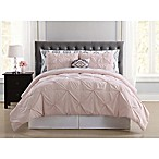 Truly Soft Pueblo Pleated 6-Piece Twin XL Comforter Set in Blush