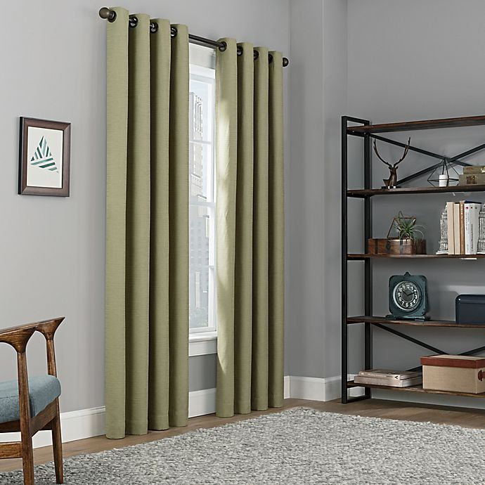 Alternate image 1 for Copley Square 108-Inch Grommet Top Blackout Window Curtain Panel in Sage