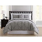 Truly Soft Arrow Pleated 6-Piece Twin XL Comforter Set in Grey