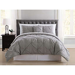 Truly Soft Arrow Pleated 6-Piece Twin Comforter Set in Grey