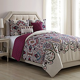 VCNY Home Amherst 4-Piece Reversible Twin XL Comforter Set