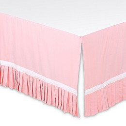 The Peanutshell™ Pleated Crib Skirt in Light Coral
