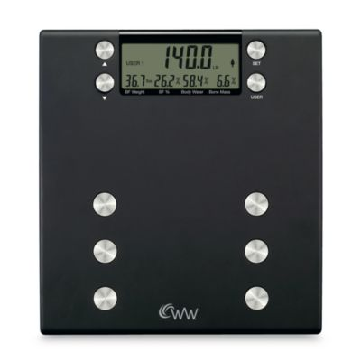 Weight Watchers 174 Body Analysis Scale By Conair 174 Bed Bath