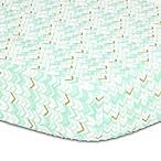 The Peanut Shell® Herringbone Fitted Crib Sheet in Turquoise