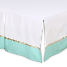 The Peanutshell™ Pleated Crib Skirt in Turquoise