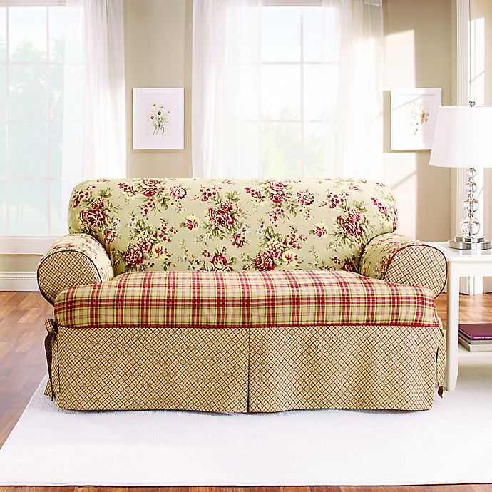 Pleasant Sure Fit Lexington T Cushion Sofa Protector Bed Bath Beyond Ncnpc Chair Design For Home Ncnpcorg