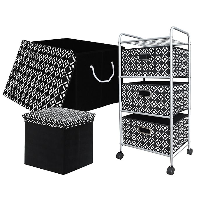 Brilliant Bin Trolley Trunk And Ottoman Storage Collection In Black Squirreltailoven Fun Painted Chair Ideas Images Squirreltailovenorg