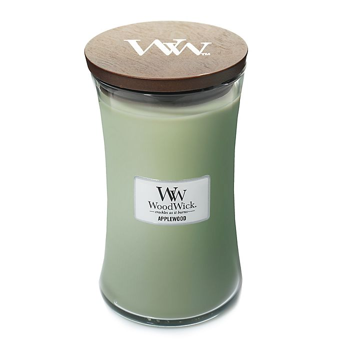 Alternate image 1 for WoodWick® Applewood 22 oz. Jar Candle