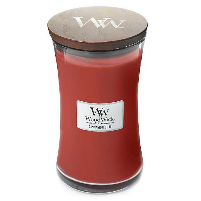 Alternate image 1 for WoodWick® Cinnamon Chai 22 oz. Jar Candle