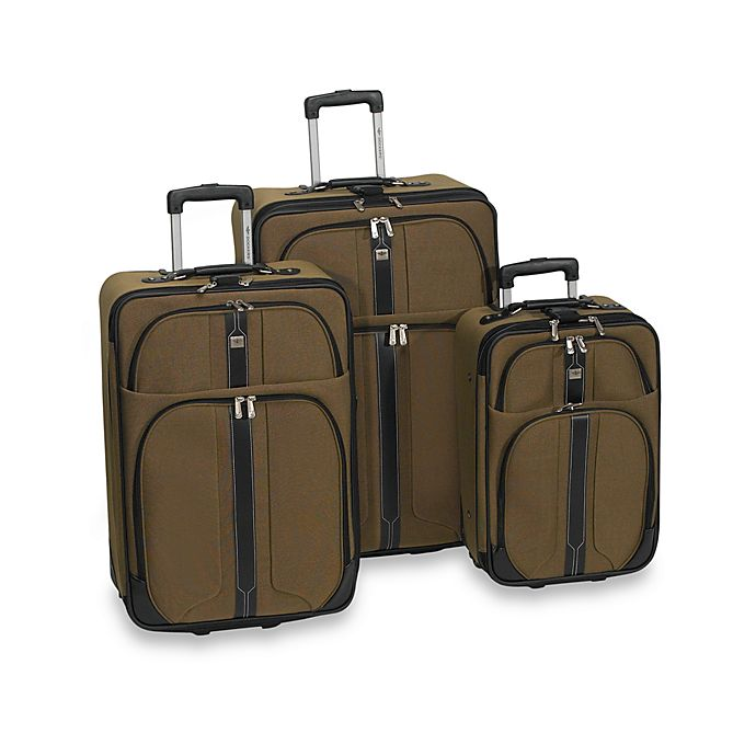 Dockers 174 South Beach 3 Piece Luggage Set Khaki Bed