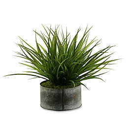D&W Silks Wild Grass in Tin Planter