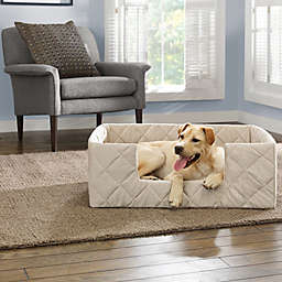SUREFIT Deep Pile Portable X-Large Pet Bed in Cement