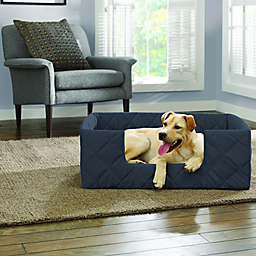 SUREFIT Deep Pile Portable Medium Pet Bed in Storm Blue