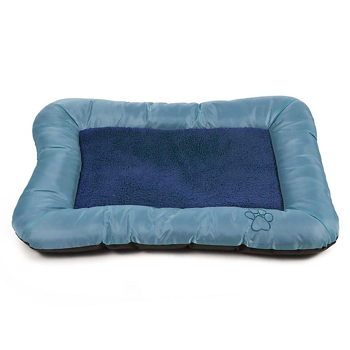 Alternate image 1 for PETMAKER Plush Cozy Small Pet Bed in Blue