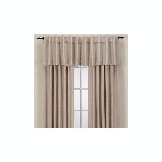 Alternate image 1 for Reina Rod Pocket/Back Tab Window Curtain Panel and Valance