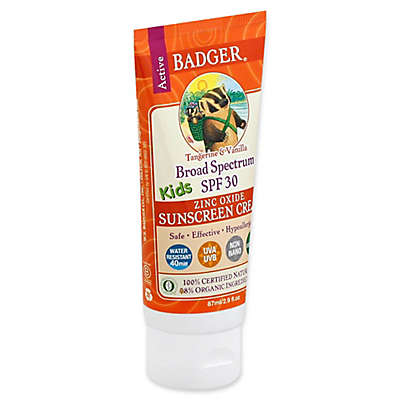 Badger® 2.9 fl. oz. Balm SPF 30 Kids Sunscreen Cream in Tangerine Vanilla