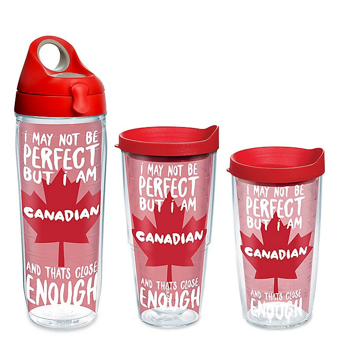 Alternate image 1 for Tervis® Canada Perfect Wrap Drinkware with Lid