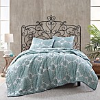 Daisy Voile Reversible King Quilt in Blue