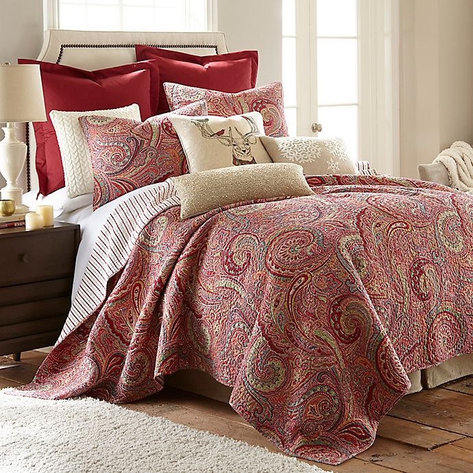 Alternate image 1 for Levtex Home Avery Full/Queen Reversible Quilt Set in Red