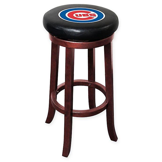Alternate image 1 for MLB Chicago Cubs Wooden Bar Stool