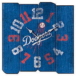 MLB Los Angeles Dodgers Vintage Square Wall Clock