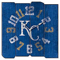 MLB Kansas City Royals Vintage Square Wall Clock