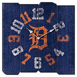 MLB Detroit Tigers Vintage Square Wall Clock