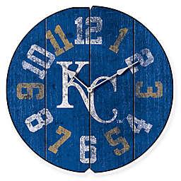 MLB Kansas City Royals Vintage Round Wall Clock