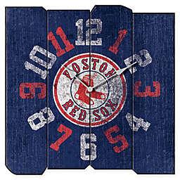 MLB Boston Red Sox Vintage Square Wall Clock