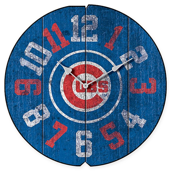 e824295f MLB Chicago Cubs Vintage Round Wall Clock | Bed Bath & Beyond