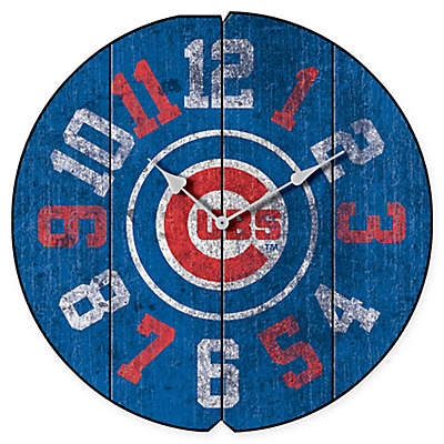 MLB Chicago Cubs Vintage Round Wall Clock